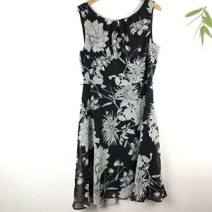 Connected Apparel Sleeveless Dress 12 Black